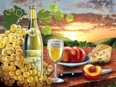 Набор для выкладки алмазной мозаикой Вино Chablis DIAMONDMOSAIC DM-227