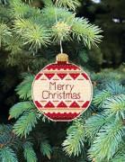 Набор для вышивки нитками Новогодняя игрушка Счастливого рождества