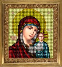 Набор для вышивки ювелирным бисером Икона Казанская Краса и творчiсть 11113