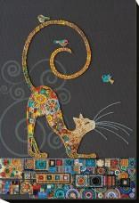 Набор для вышивки бисером Кошечка  Абрис Арт АВ-791