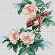 Набор для вышивки крестом Птичка в цветах