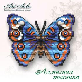 Набор-магнит для выкладки алмазной мозаикой Анютины Глазки (Junonia orithya) Art Solo БАТ02 - 110.00грн.