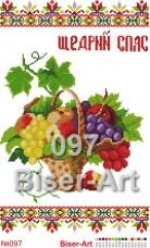 Схема вышивки бисером на габардине Рушник на свято Спаса Biser-Art РП-097