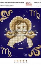 Схема для вышивки бисером на атласе Знаки зодіаку: Діва