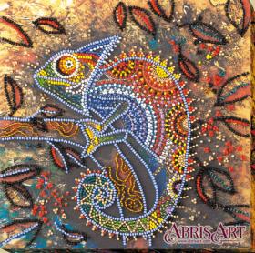 Набор-миди для вышивки бисером на натуральном художественном холсте Хамелеон, , 219.00грн., AMB-034, Абрис Арт, Животные