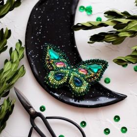 Набор для вышивки украшения Изумрудный август