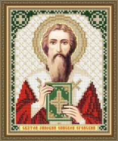 Схема вышивки бисером на авторской канве Святой Зиновий Епископ Егейский