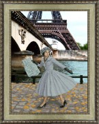 Набор для вышивки крестом Опять в Париже листопад