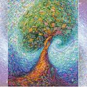Схема для вышивки бисером на холсте Волшебное дерево жизни