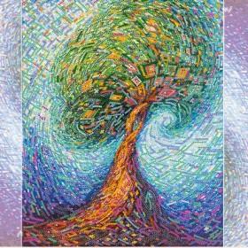 Схема для вышивки бисером на холсте Волшебное дерево жизни Абрис Арт АС-277 - 102.00грн.