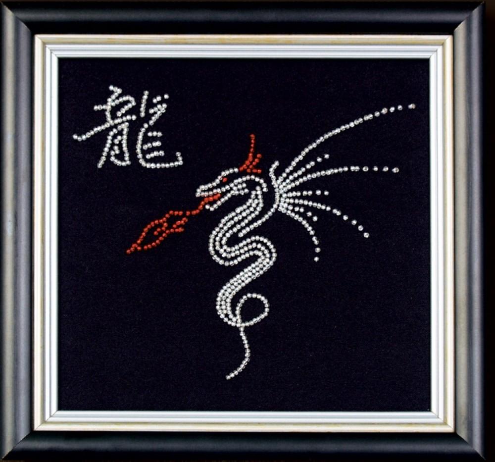 Схема вышивки бисером дракона