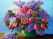 Набор для выкладки алмазной мозаикой Тюльпаны и сирень