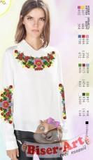 Заготовка вышиванки Женской сорочки на белом габардине Biser-Art SZ105