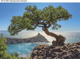 Схема для вышивки бисером на габардине Крымский пейзаж Acorns А4-К-300 - 45.00грн.