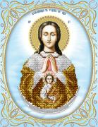 Рисунок на ткани для вышивки бисером Божья Матерь Помощница в родах (серебро)