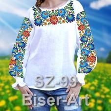 Заготовка для вышивки бисером Сорочка женская Biser-Art Сорочка жіноча SZ-99 (льон)