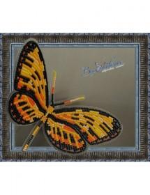 Набор для вышивки бисером на прозрачной основе Бабочка Механитис Менапис, , 160.00грн., BGP-025, Вдохновение, Брошки для вышивки бисером