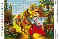 Рисунок на габардине для вышивки бисером Козак Вишиванка А4-122
