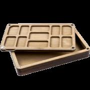 Органайзер для бисера многоярусный с крышкой FLZB-084