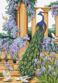 Набор для выкладки алмазной мозаикой Павлин в саду