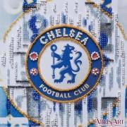 Набор-мини для вышивки бисером на натуральном художественном холсте ФК Челси