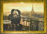 Рисунок на габардине для вышивки бисером Париж