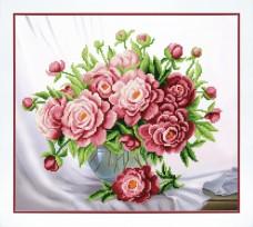 Набор для вышивки бисером Розовые пионы Чарiвна мить (Чаривна мить) Б-751