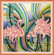 Набор для вышивки бисером Розовый фламинго