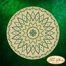 Схема вышивки бисером на атласе Мандала Малахит Tela Artis (Тэла Артис) МА-010 ТА