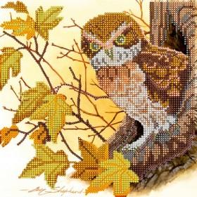 Схема для вышивки бисером на холсте Сказки леса