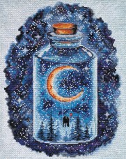 Набор для вышивки крестом Месяц для влюбленных Абрис Арт АН-095