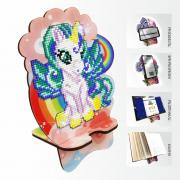 Подставка под телефон с алмазной мозаикой Единорог на радуге