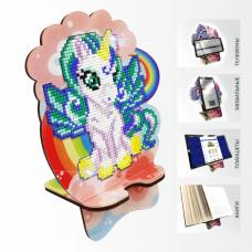 Подставка под телефон с алмазной мозаикой Единорог на радуге Art Solo АРМ-07
