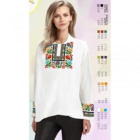 Заготовка женской сорочки на белом габардине Biser-Art SZ92 - 320.00грн.