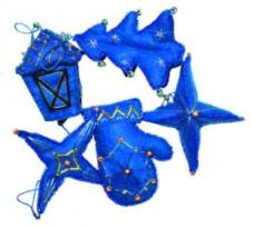 Набор для изготовления новогодних игрушек из фетра  Чарiвна мить (Чаривна мить) В-186