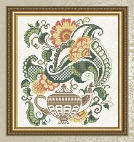 Схема для вышивки бисером на габардине Цветочный чай. Чайник Art Solo VKA4712 - 78.00грн.
