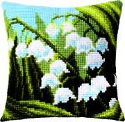 Набор для вышивки подушки крестиком Ландыши