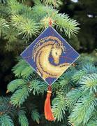 Набор для вышивки нитками Новогодняя игрушка Гороскоп лошадь