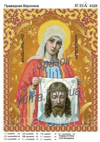 Схема вышивки бисером на атласе Св. Вероника