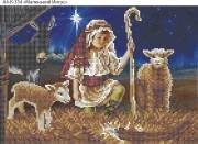 Схема для вышивки бисером на габардине Маленький Иисус