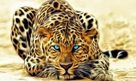 Набор для выкладки алмазной мозаикой Огненный леопард
