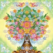 Схема вышивки бисером на холсте Сказочное дерево