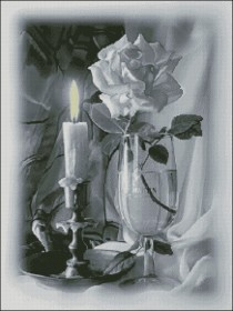 Схема вышивки бисером на атласе Побачення