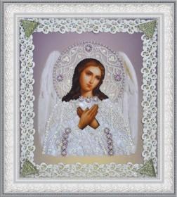 Набор для вышивки бисером Икона Ангела Хранителя (серебро) ажур Картины бисером Р-371 - 210.00грн.