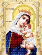 Схема для вышивки бисером Богородица Отчаянных единая надежда