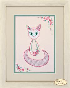 Набор для вышивки в смешанной технике Цветочный кот - 3 Tela Artis (Тэла Артис) НШ-003 - 190.00грн.