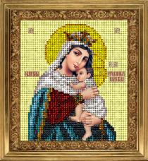 Набор для вышивки ювелирным бисером Икона Отчаянных единая надежда Краса и творчiсть 81013