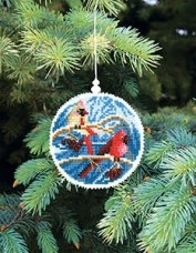 Набор для вышивки нитками Новогодняя игрушка В преддверие нового года Чарiвна мить (Чаривна мить) Т-18