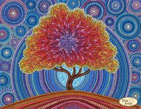 Схема вышивки бисером на атласе Дерево счастья, , 95.00грн., ТА-341, Tela Artis (Тэла Артис), Схемы и наборы для вышивки бисером по Фен шуй