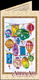 Набор-открытка для вышивки бисером Фонарики желаний, , 74.00грн., АО-146, Абрис Арт, Открытки, магниты
